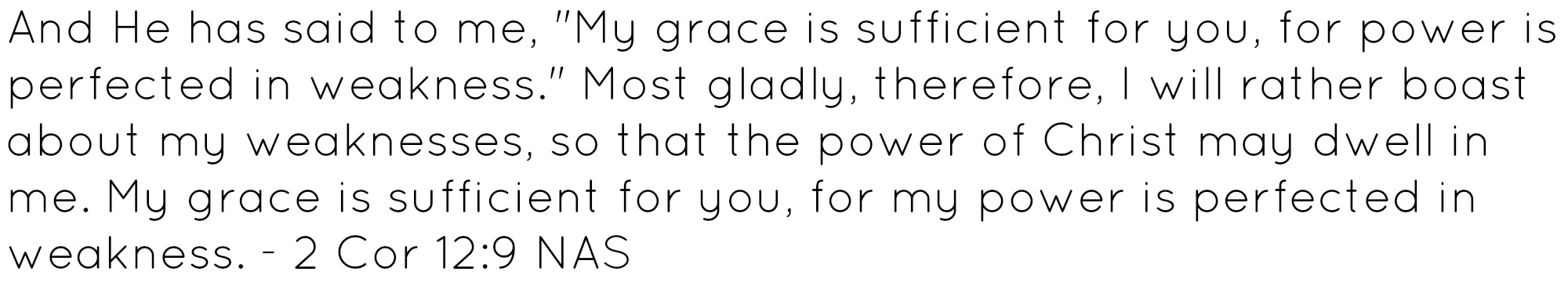 2 corinthians 2:19 my grace is sufficient for you