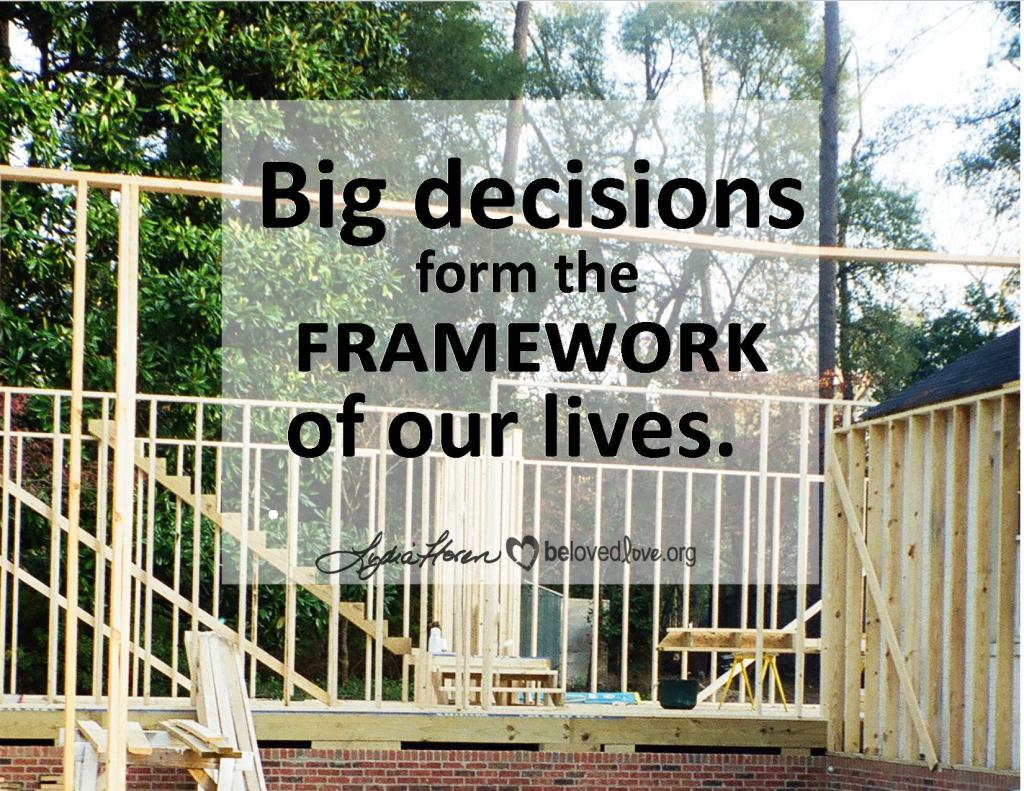Big Decisions form the framework of our lives.